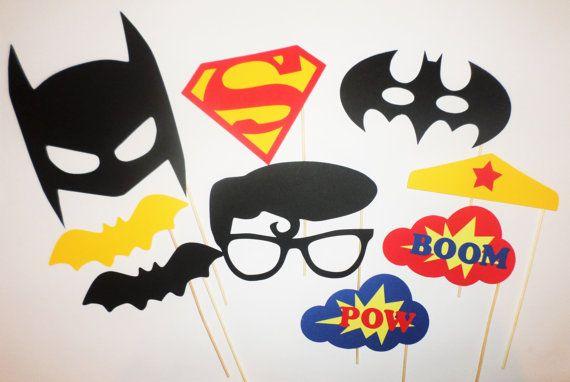 Superman Batman vs Superman photo booth prop Batman Superman Birthday party…