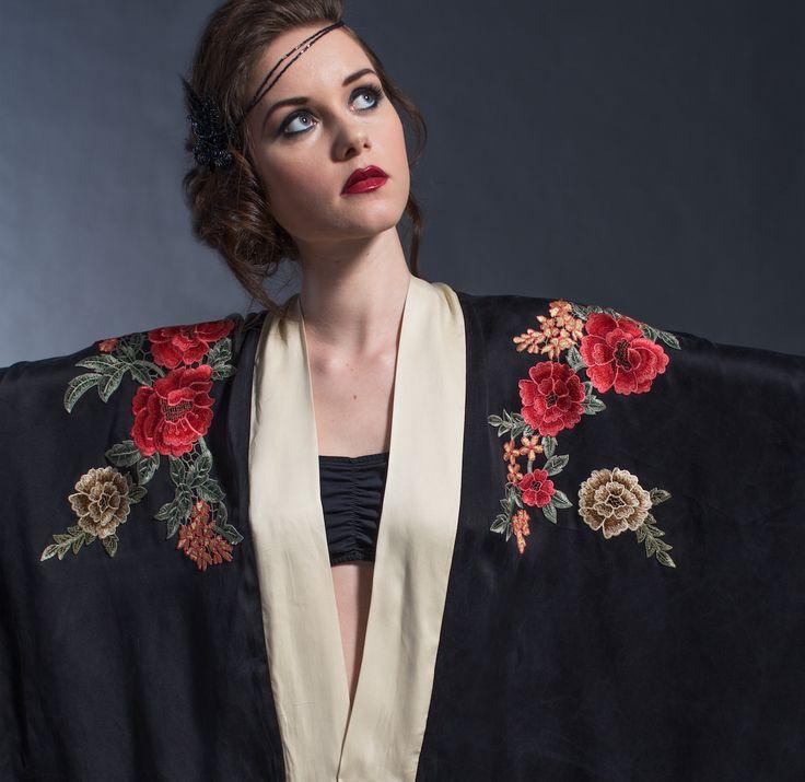 20's inspired  kimono at Alexandra Farrow etsy shop https://www.etsy.com/shop/ALEXANDRAFARROW