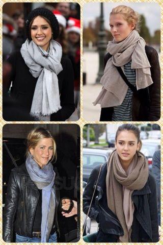 ElcoBlog: Как стильно носить шарфы