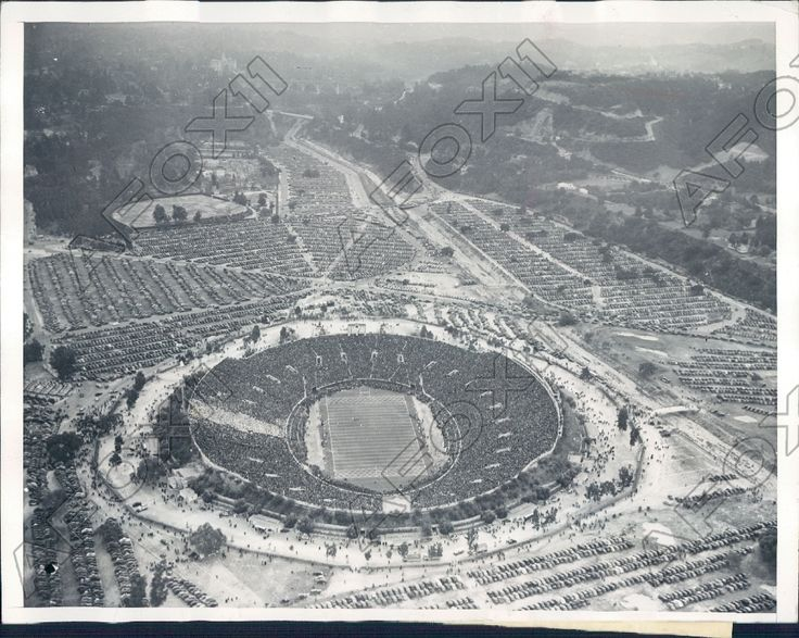 1938 Aerial Shot of The Rose Bowl Game Alabama vs California Bears Press Photo | eBay