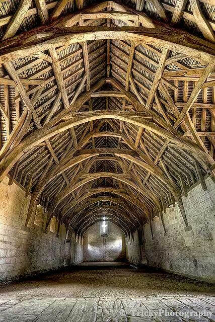 Interior of Tith Barn - 14 th century