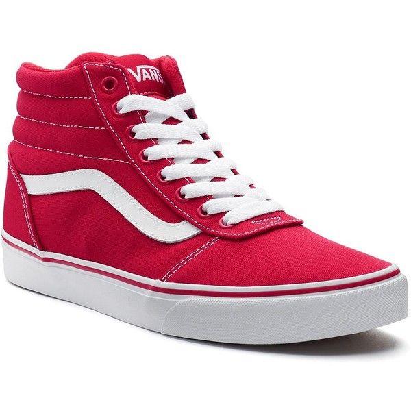 Vans Ward Hi Men's Skate Shoes ($65) ❤ liked on Polyvore featuring men's fashion, men's shoes, men's sneakers, med red, vans mens shoes, mens red high tops, mens round toe shoes, mens hi top shoes and mens black hi top sneakers