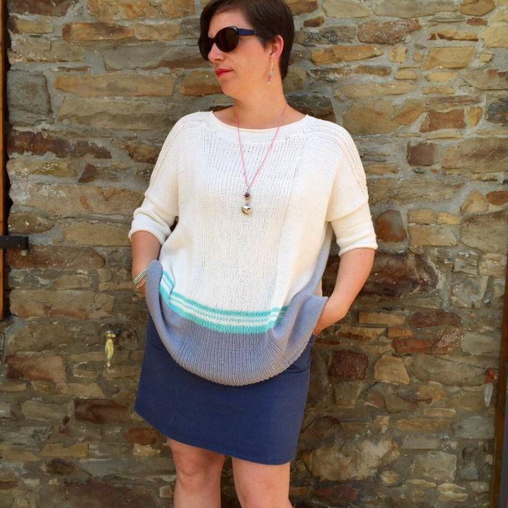 Pull Boxy #jojilocatelli #Marienicolas alliot coton #katia