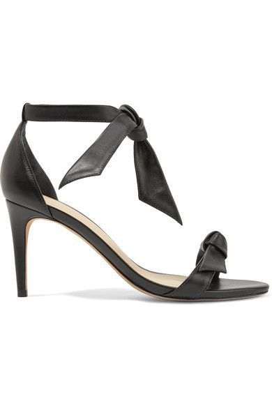 Alexandre Birman - Patty Bow-embellished Leather Sandals - Black - IT35.5