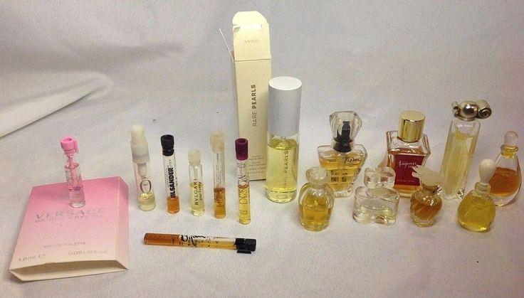 Vintage Perfume Lot Tresor Halston Versace Bvlgari Organza Jill Sander Bijan Oui