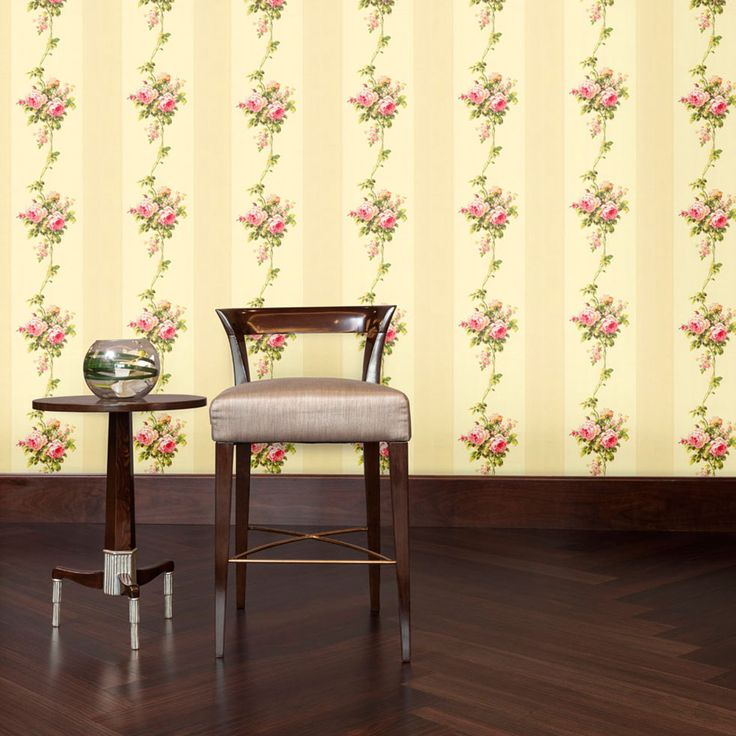 Rose Stripe Designer Wallpaper from Nilaya by Asian Paints