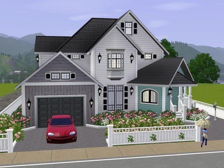 Villa grundriss sims 3  51 besten casa Bilder auf Pinterest | Grundrisse, Haus und Sims 3