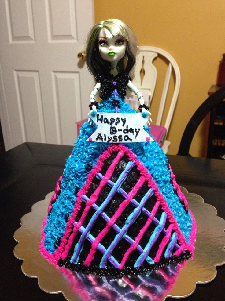 Monster High Doll Cake Cake Decorating Pinterest