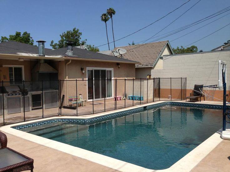 Five foot pool fence in all black ventura california for Pool design ventura