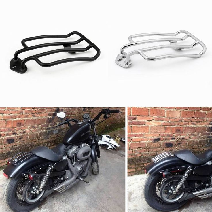 Mad Hornets - Seat Luggage Rack Solo Harley-Davidson Sportster XL 883 1200 (2004-2015) Black, $24.79 (http://www.madhornets.com/seat-luggage-rack-solo-harley-davidson-sportster-xl-883-1200-2004-2015-black/)