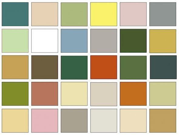 Mid Century Modern Interior Color Chips Color