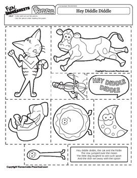 Use the fun pieces while reading the nursery rhyme. FIND