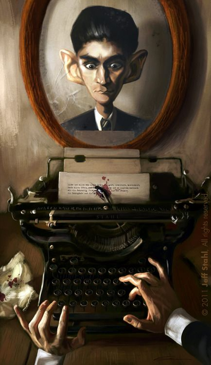 "130th anniversary of the birth of Kafka / Reescribiendo ;La metamorfosis"" de Kafka (ilustración de Jeff Stahl)"