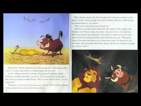 """""""The Lion King"""" - Read along (Book and Record) - Disney - YouTube"""