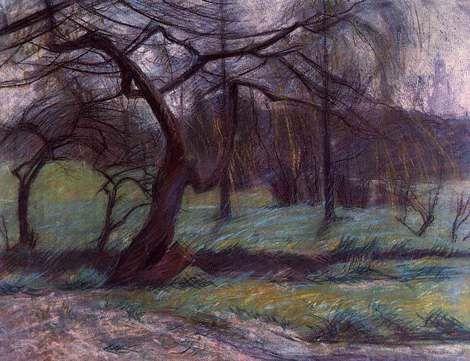 Umberto Boccioni, Moorland, 1908