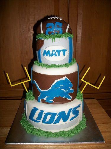 1000 Ideas About Detroit Lions Cake On Pinterest Detroit Lions Amazing  weddings images