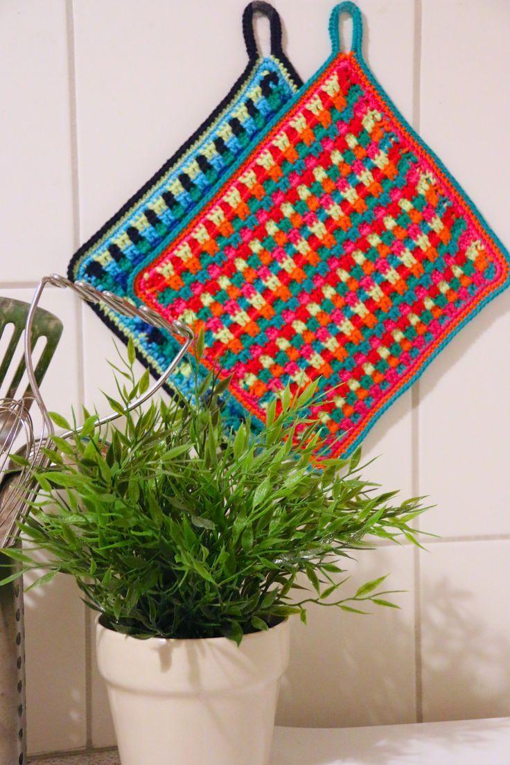 Gehäkeltebuntetopflappen Crocheting Häkeln I Like