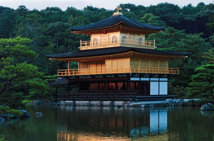 The Kinkakuji temple in Kyoto, Japan at dusk.  This photo is published under Creative Commons Attribution-NonCommercial 3.0 license.
