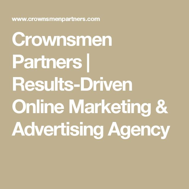 Crownsmen Partners | Results-Driven Online Marketing & Advertising Agency