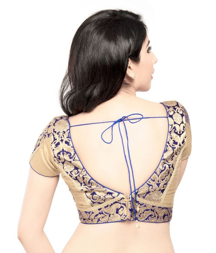 Vamas Blue Brocade Blouses: Buy Online @ Rs.2775 /- on Snapdeal | Item No.: 182311640