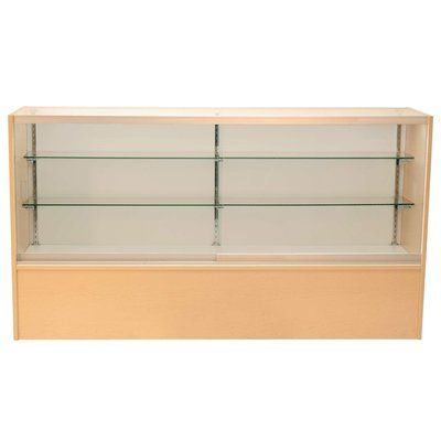 """KC Store Fixtures Front Opening Glass Showcase Size: 38"""" H x 48"""" W x 18"""" D, Finish: Chocolate Cherry"""