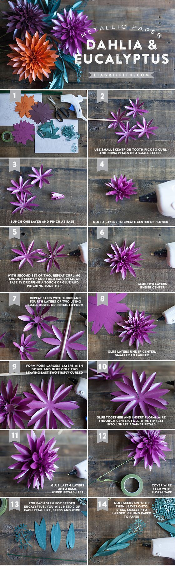 Tutorial flor de papel