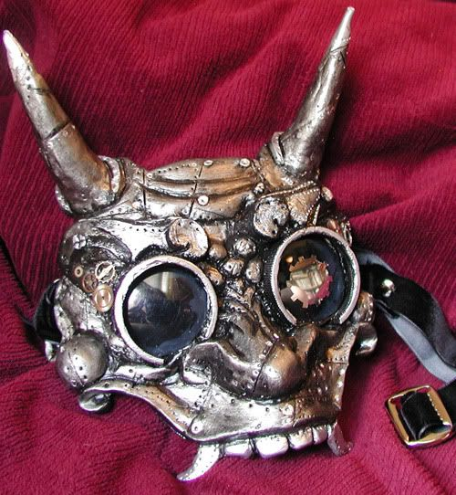 steampunk mask for rabbits of the future