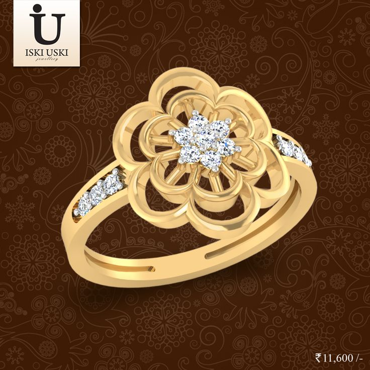 For a dazzling gift, try our Luminous Diamond Ring collection.Diamond rings made just for you.#DiamondRings #GoldRings #Rings #IskiUski