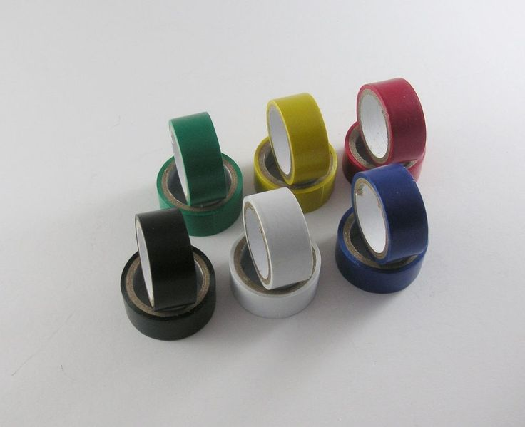 T62706* 12 Rollen Isolierband 19 mm farbig sortiert