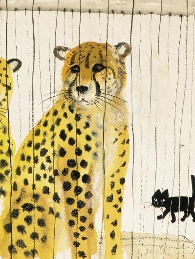 Cheetah (detail) by Józef Wilkoń