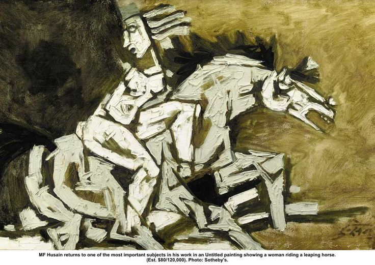 M F Husain- Leaping-Horse