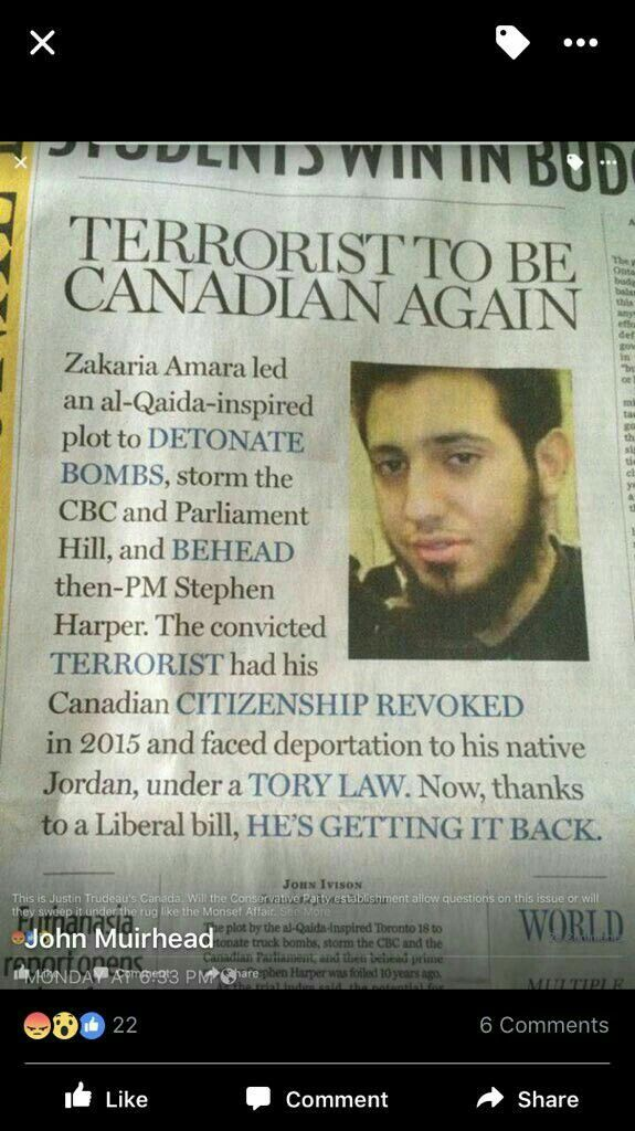Trudeau giving all Isis terrorists a free pass to Canada..welcomed home by Trudeau