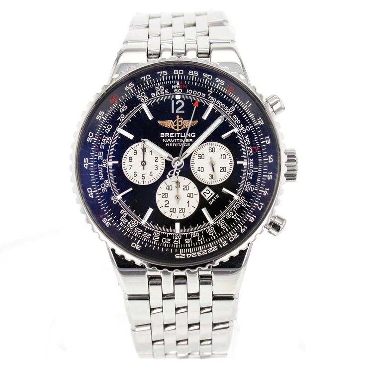 Breitling Navitimer Heritage A35350 43mm Stainless Steel Aviator's Watch for Men #Breitling #LuxurySportStyles
