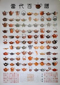 Large-Poster-100-yixing-purple-clay-teapot-famous-contemporary-artists-2-x-3