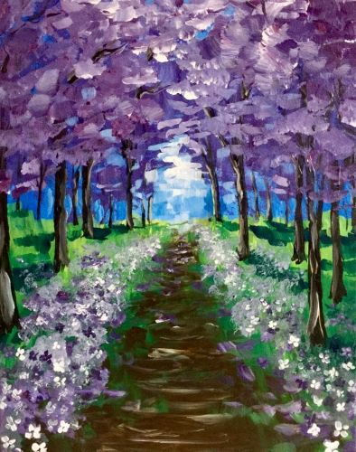 Lilacs and Violets at The Forum - Paint Nite Events near Tacoma, WA>