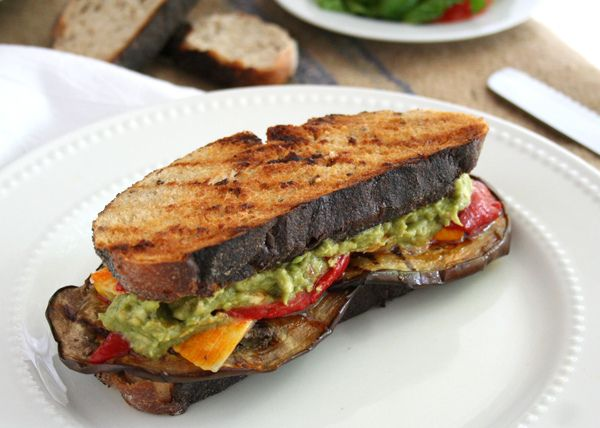 Grilled Mediterranean Sandwich with Mashed Avocado - My Humble Kitchen