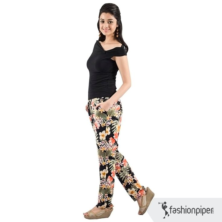 #Flower power trendy trousers  Order here: http://www.fashionpiper.com/women/western-wear/women-bottom-wear/flower-power-trouser-1358.html