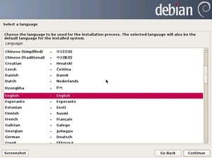 3. Select a Language - Choose the language to be used for the installation process. The selected language will also be the default language for the installed system.
