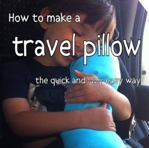 how to make a travel pillow for a car seat the lazyeasy way