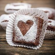 Baka den perfekta brownien till alla hjärtans dag