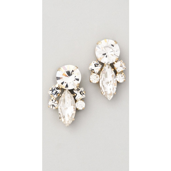 Noir Jewelry Crystal Cluster Earrings found on Polyvore