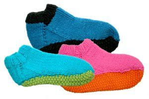 Slippers with sole free knitting pattern