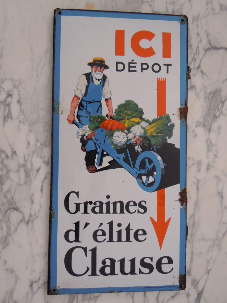 """Clause Le jardinier qui pousse sa brouette au fronton des jardineries appelées """"grainetiers"""""""