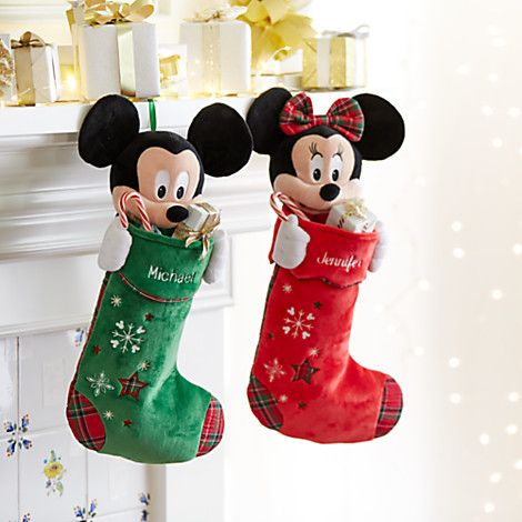 Mickey Mouse Plush Holiday Stocking - Personalizable