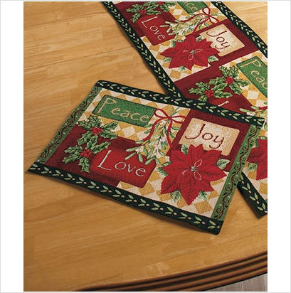 Christmas Holiday Elegant Tapestry Table Placemats Or Runners 3