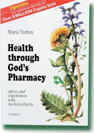 HEALTH THROUGH GOD'S PHARMACY...If you ever come across this book for sale, get it! It features herbal formulas from European herbalist Maria Treben. Includes original Swedish Bitters recipe, plus info on Essiac and Flor Essence formulas.