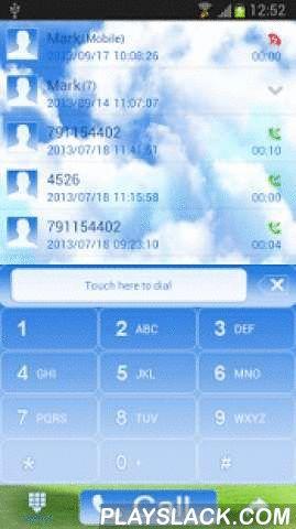 Sky World - GO Contacts Theme  Android App - playslack.com ,  Toepassing op contacten met vliegende eilanden GO . Leuke applicatie die kleine vliegende eilanden en weide toont . Namen van contacten in donkerblauwe kleur . Datum en tijd zijn blauw . De toetsen van het toetsenbord zijn in witte en blauwe kleuren . Andere elementen zijn wit en blauw . Andere lijsten met contactpersonen toont vliegende eilanden met vuurtoren en windmolen . Vliegende eilanden eruit ziet vanuit dromen ... Als je…