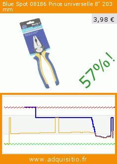 """Blue Spot 08186 Pince universelle 8"""" 203 mm (Outils et accessoires). Réduction de 57%! Prix actuel 3,98 €, l'ancien prix était de 9,32 €. https://www.adquisitio.fr/blue-spot-tools/blue-spot-8-pouces-soft"""