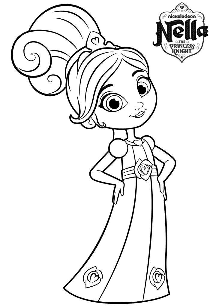 Nella Princess Knight Coloring Page Princess Coloring Pages Princess Coloring Coloring Pages