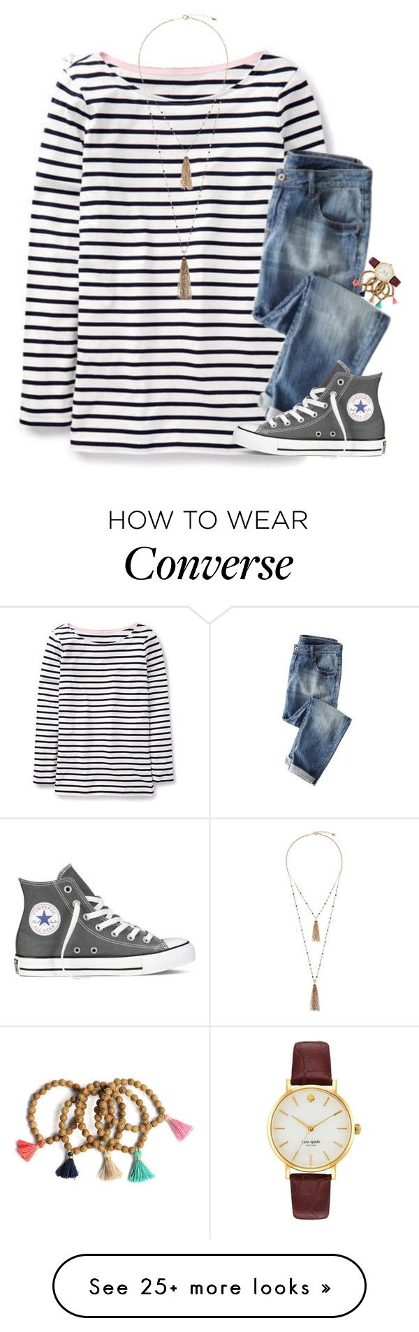 """""""My Youth Is Yours Trippin' On Stars; Sippin' Waterfalls"""" by cfc-prep-sc on Polyvore featuring Boden, Wrap, Miadora, Eloquii, Converse, Kate Spade, women's clothing, women, female and woman"""